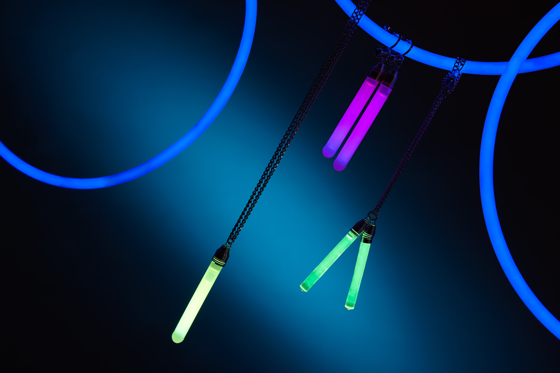 Product foto van assortiment glow sticks