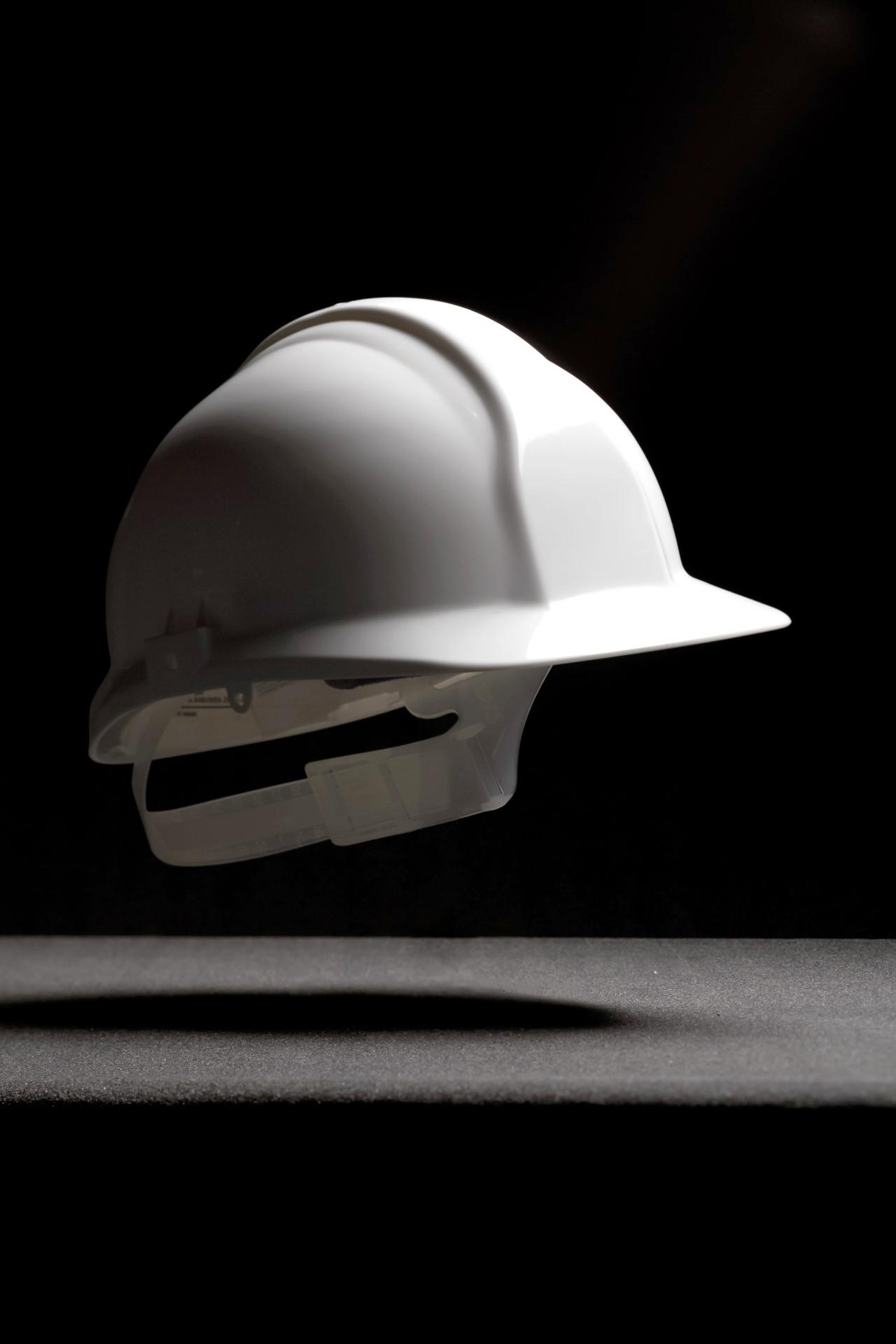 Product foto van zwevende veiligheidshelm