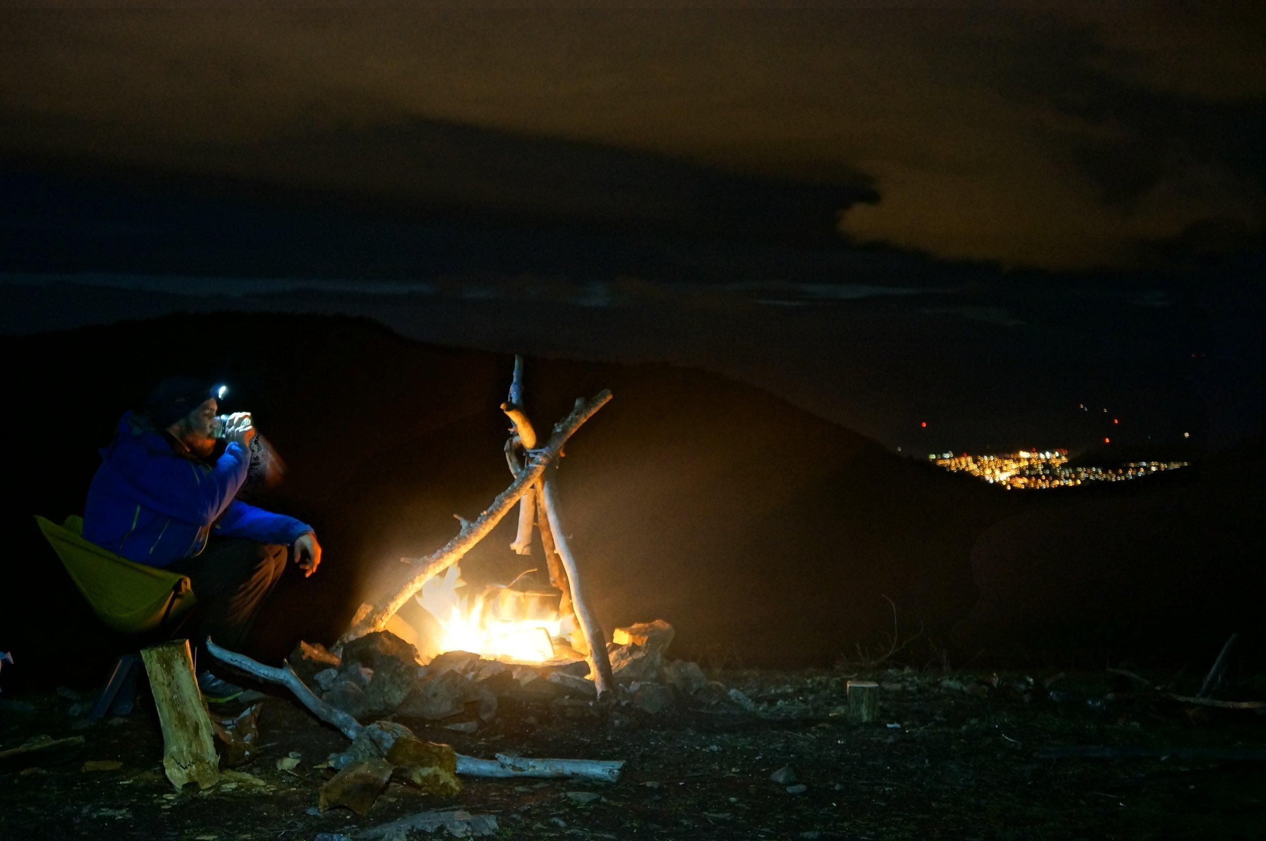campfire microadventure