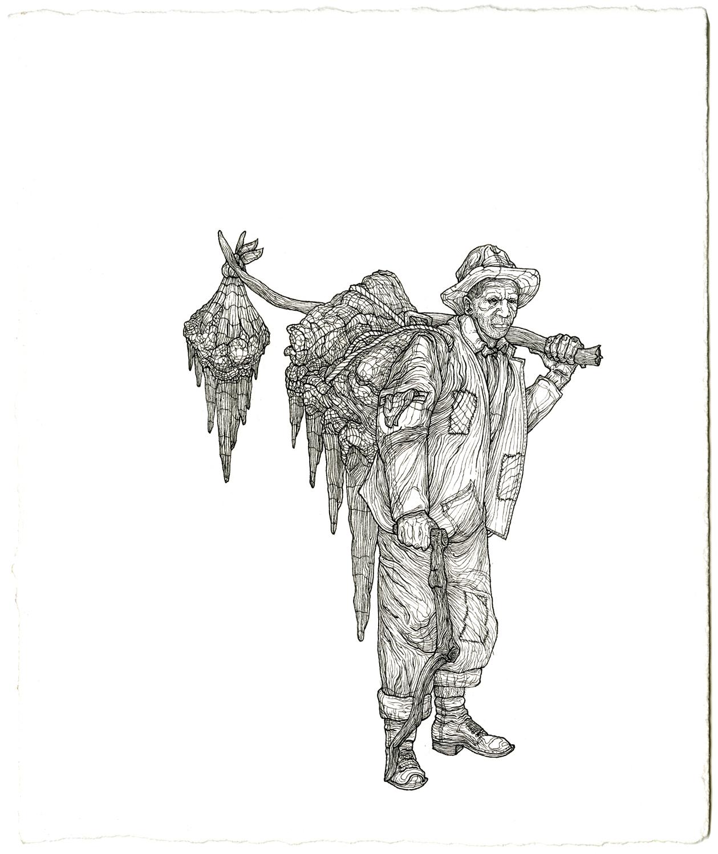 harry mcclintock , ink on paper, 8.5in. x 7in., 2009