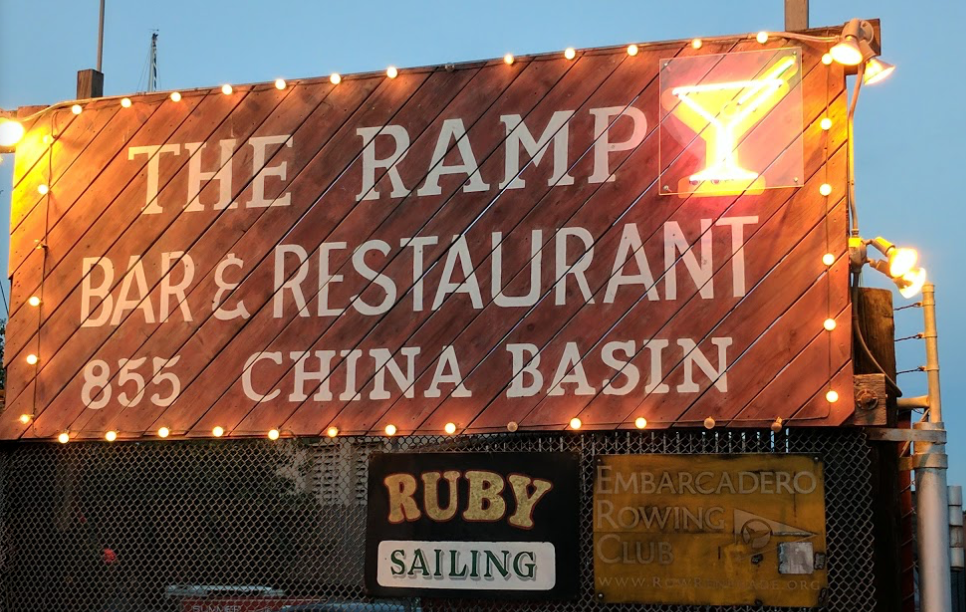 The RUby docks behind the ramp, a long-time favorite of san franciscans for waterside dining, drinks and dancing..