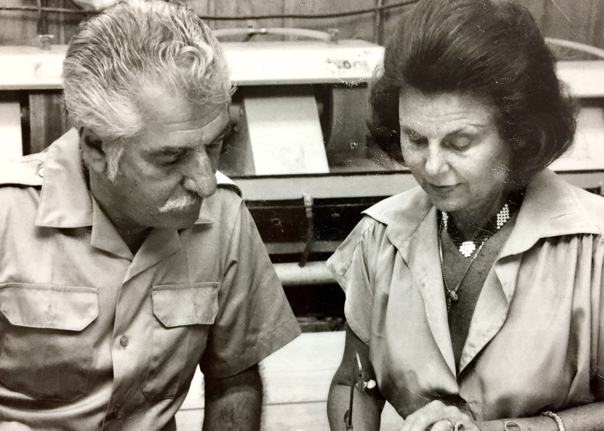 Herbert Duke, Sr. And His Wife Bettye Duke, Founders Of InterGem, Inc. Working At InterGem's Headquarters.