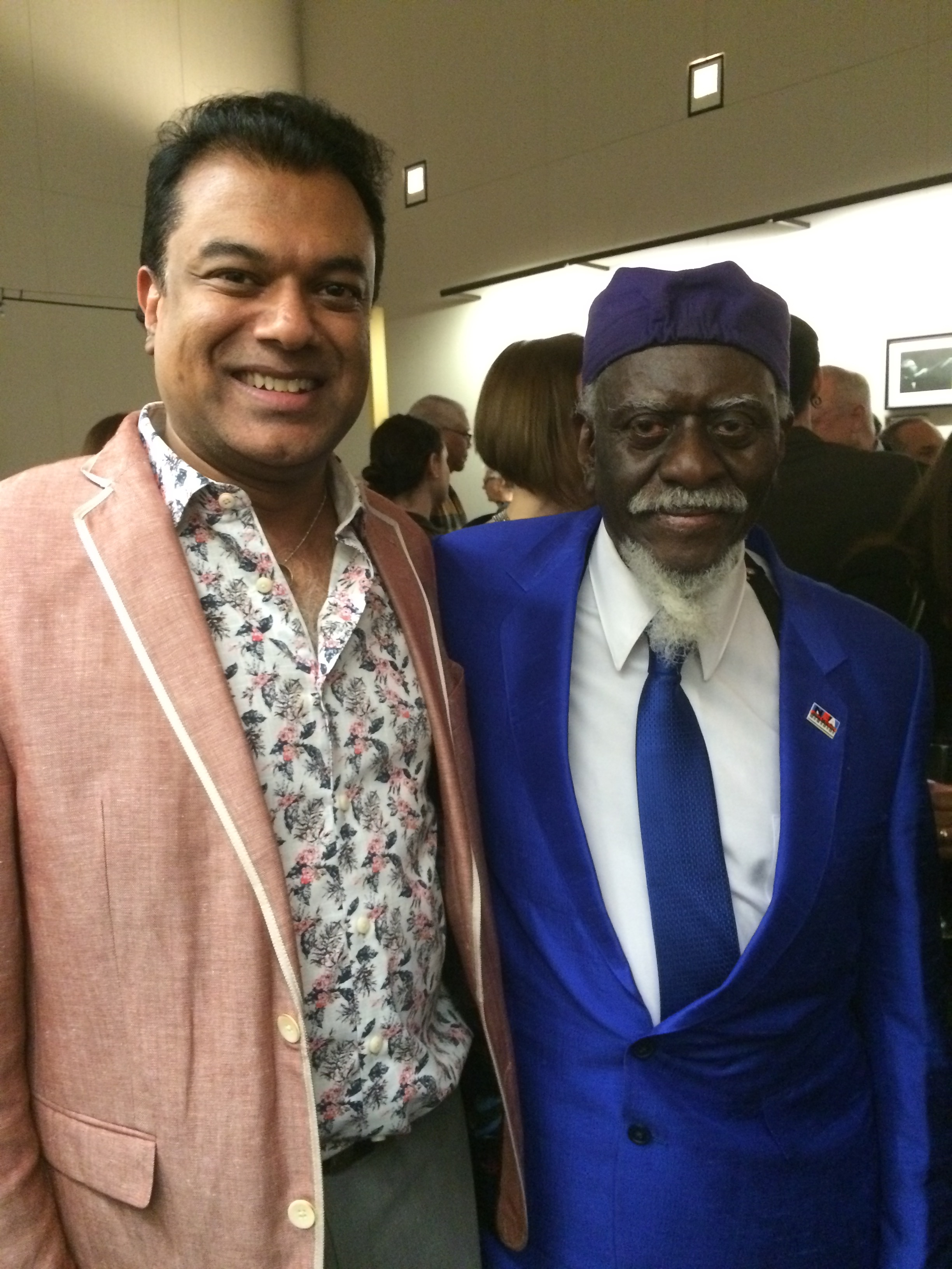 Me and Pharoah Sanders at the NEA Jazz Masters Ceremony, April 2016.