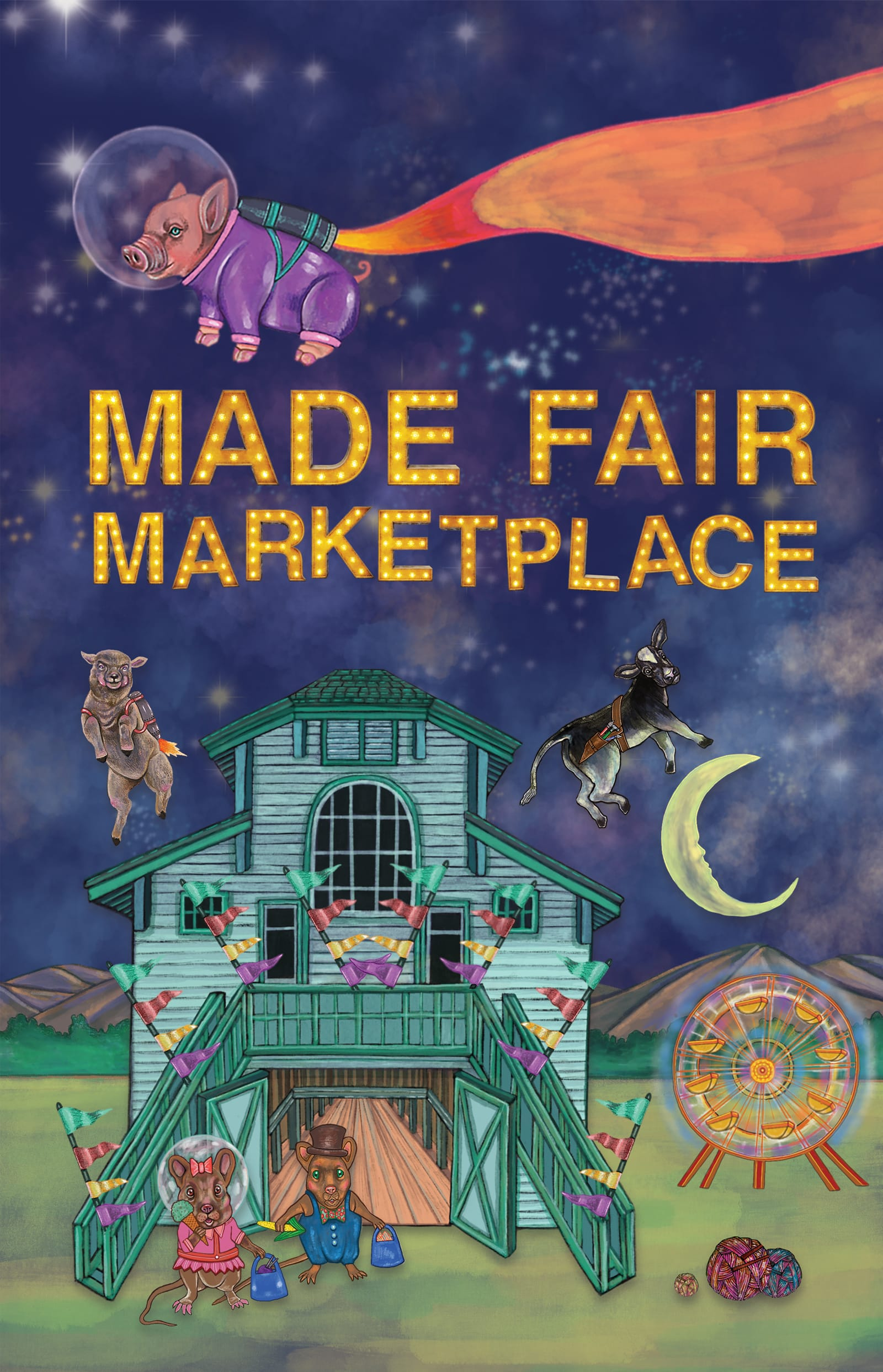 2018 Handmade Marketplace Poster by Courtney Blazon