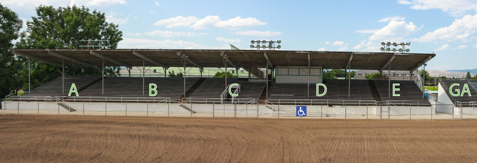 Grandstands Layout