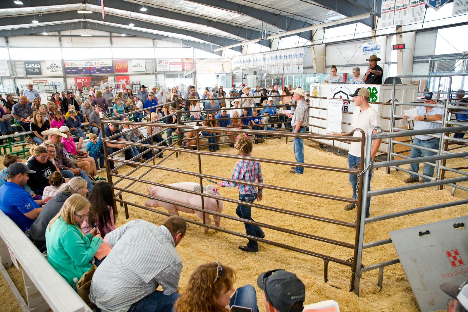Photo by Bess Bird. The Saturday morning livestock sale is always a hit.