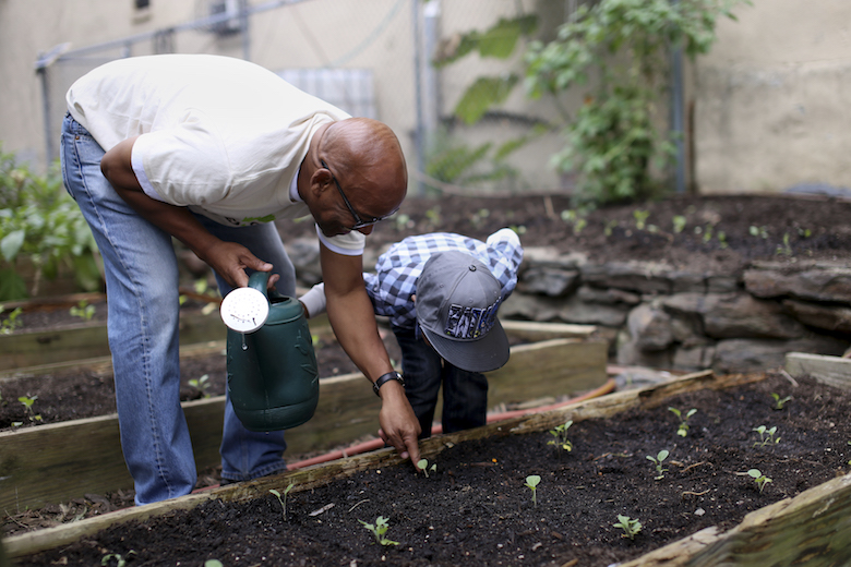 Harlem Grown founder Tony Hillery wants to see children leave his programs with the tools to eat healthfully, live sustainably, and stand up for food justice in their communities. Photo by Corinne Singer from   Edible Manhattan