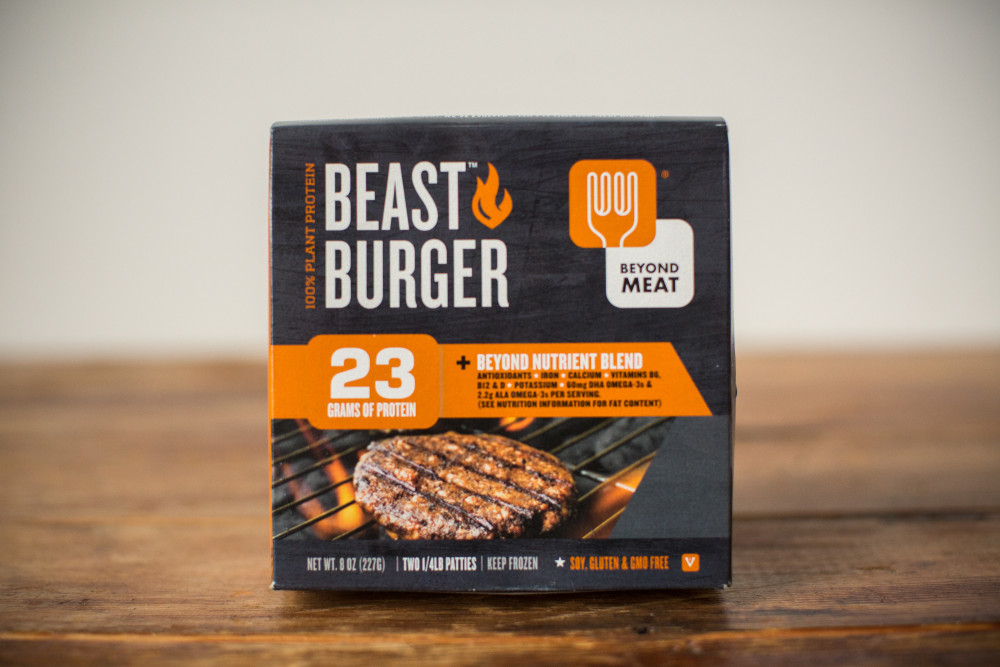 The Beast Burger is easy to find in many supermarkets and at Whole Foods. Photo credit: blog.relayfoods.com