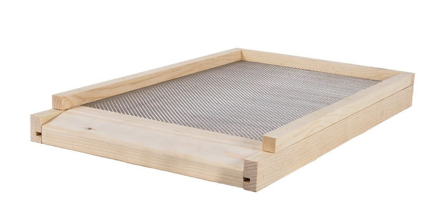 Screened bottom boards allow for good air circulation and pest control.
