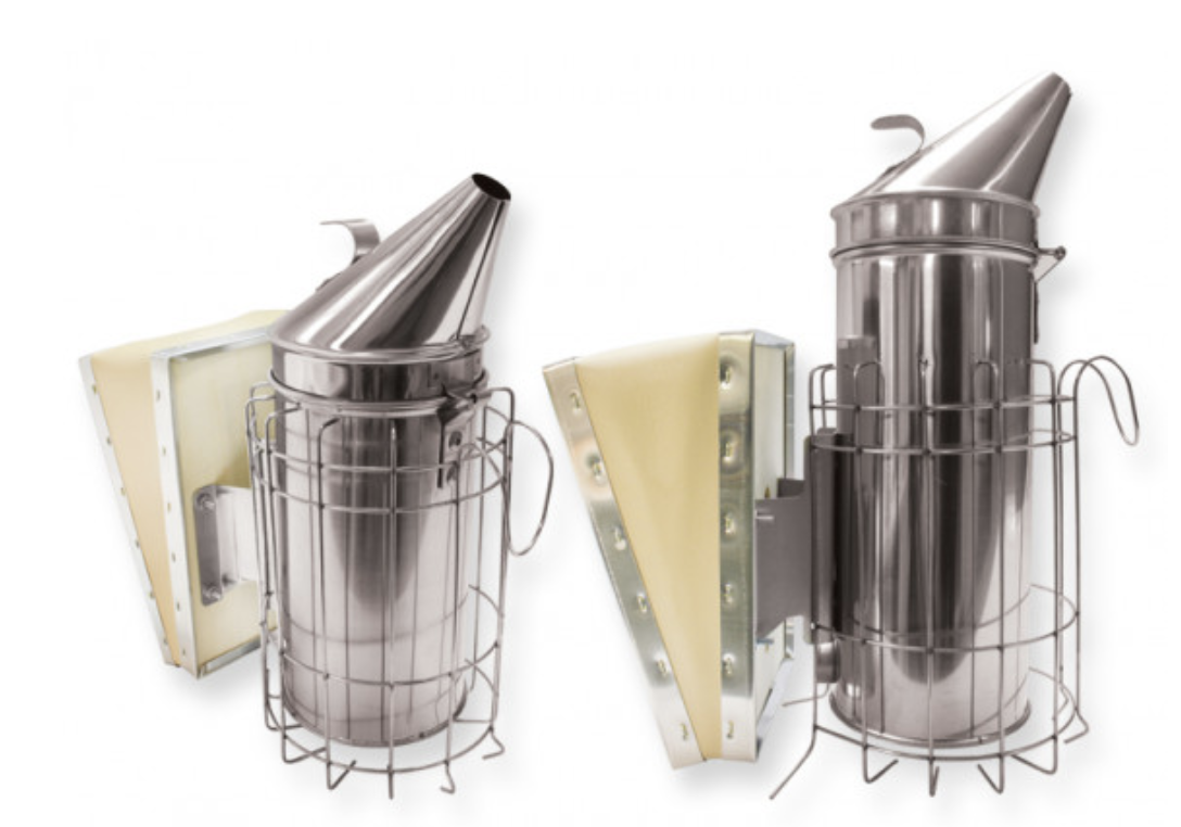 Mann Lake Ltd. has developed a reliable stainless steel smoker, complete with sturdy bellows.