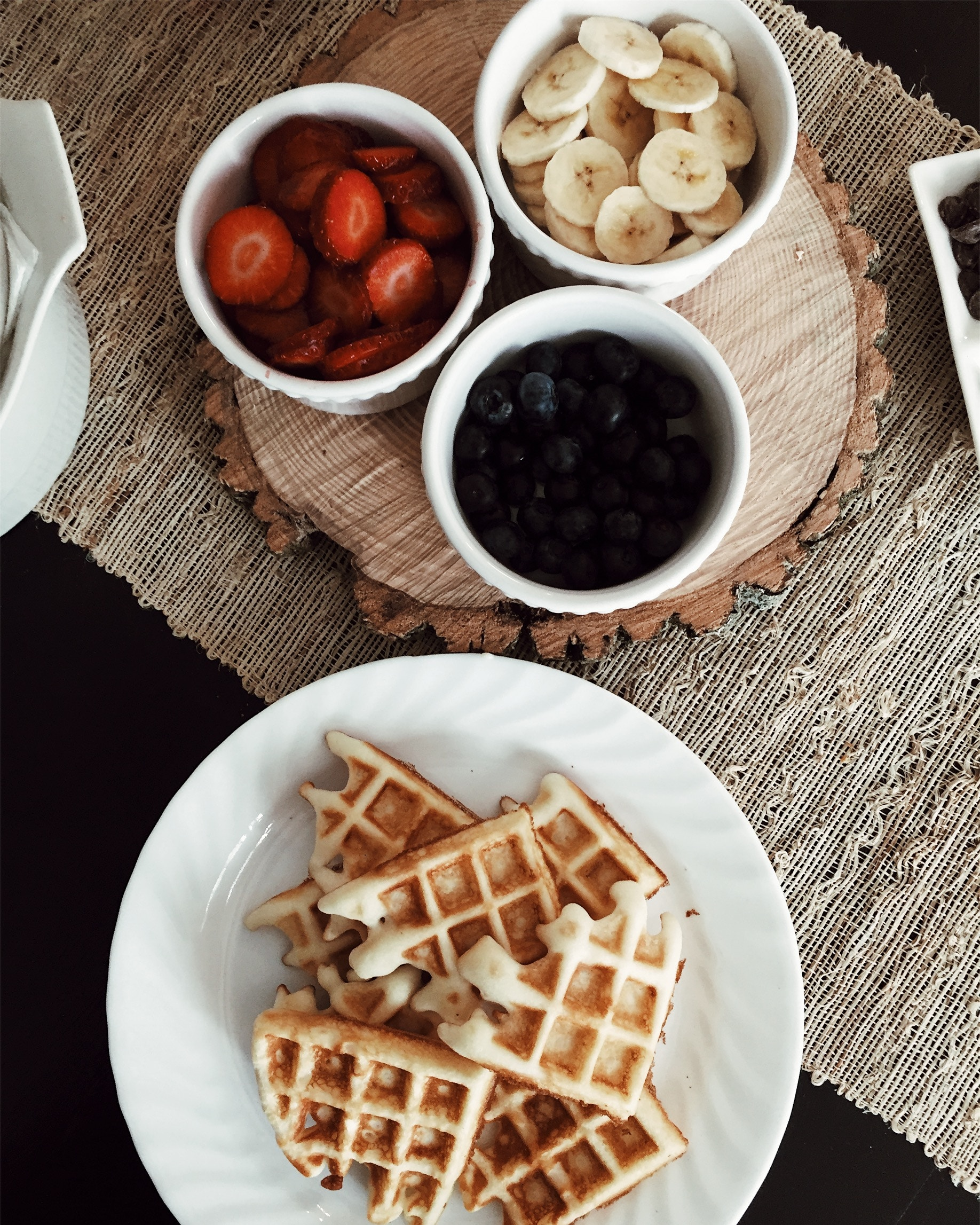 If you don't have a waffle maker, you may want to get one quick. Crispy, light, and full of flavor, these vanilla scented gems will quickly become your Sunday morning standby. They're the perfect way to begin any Valentine's Day morning. All you need are 6 ingredients, one bowl, and a stellar heart shaped waffle iron.