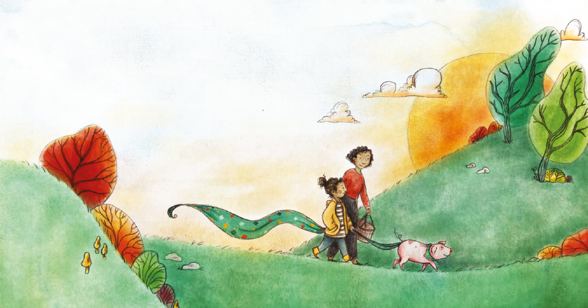 In the book  Sprig the Rescue Pig , a little pig escapes from a farm delivery truck and is found by Rory, who treats him very much like a dog.