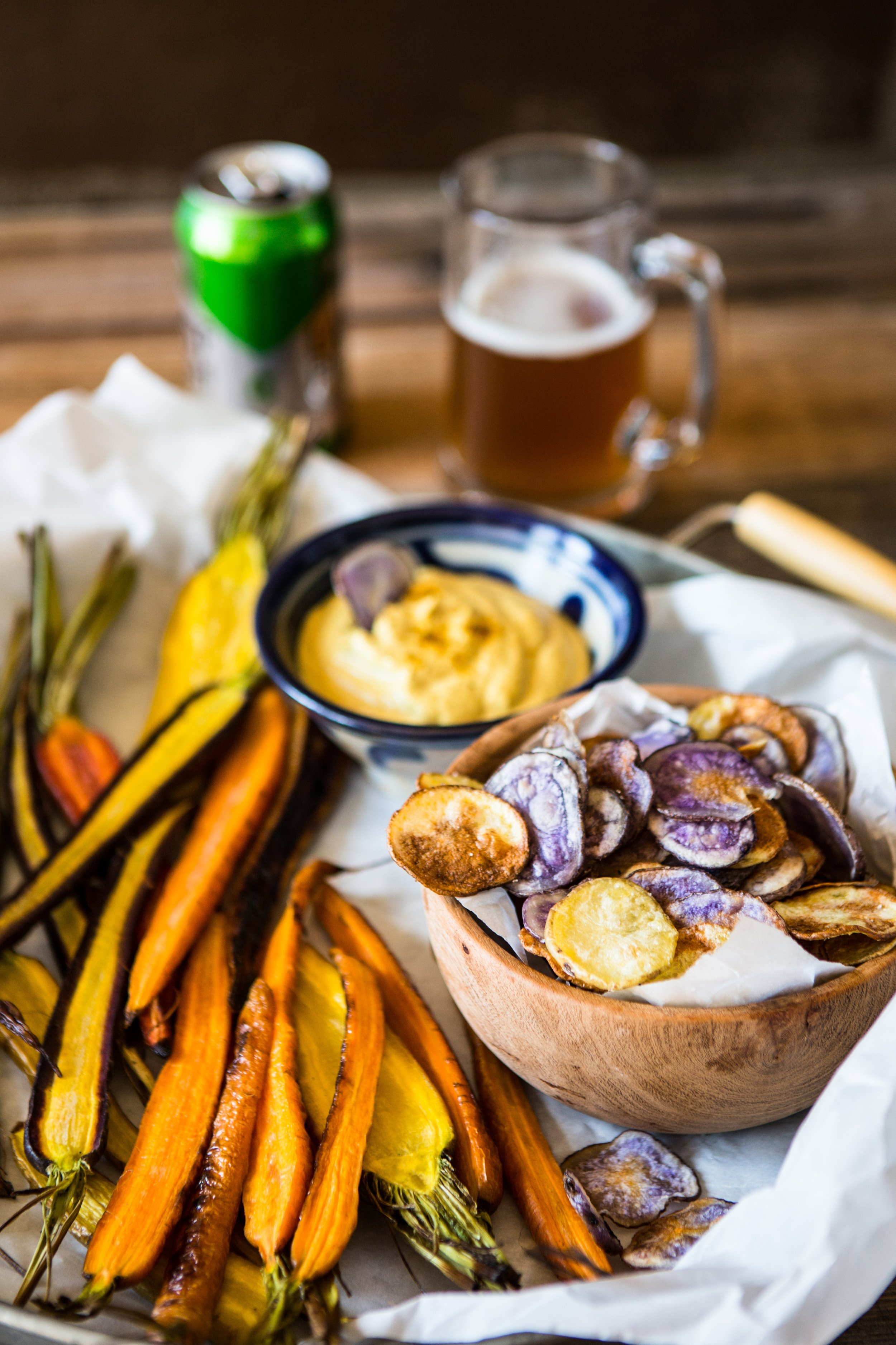 Fresh cooked carrots add a pretty orange hue and subtle sweetness to this creamy hummus. Try serving this as an appetizer at your next dinner party along with pita chips. You can store it in the fridge for up to two days, which actually improves its aroma. Photo source