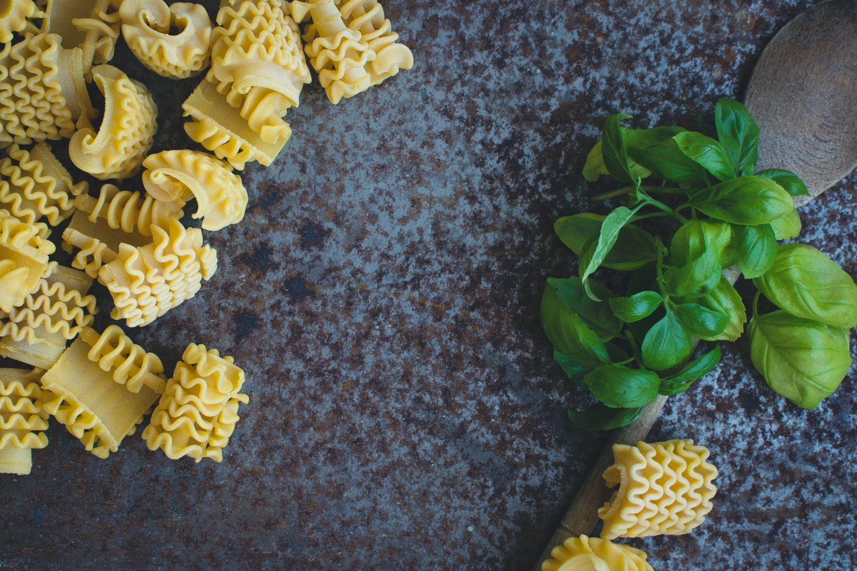 Roasted Butternut Squash, Zucchini and Arugula Pesto Pasta