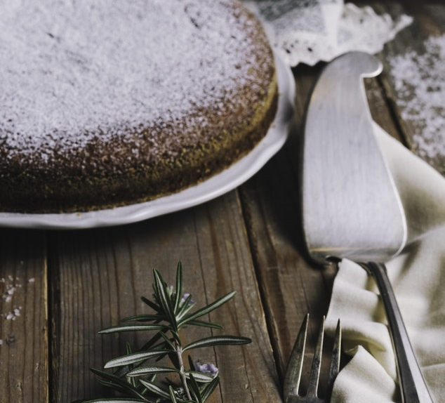 Olive Oil Cake with Orange Marmalade