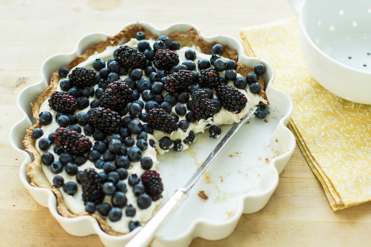 Berries are one of the most accessible fruits during the summer time. This refreshing tart allows you to incorporate your favorite berries into the recipe, whether it's strawberries, blueberries, blackberries, or any other combination. Skip the pie from the grocery store and opt for the more natural ingredients of this tart!