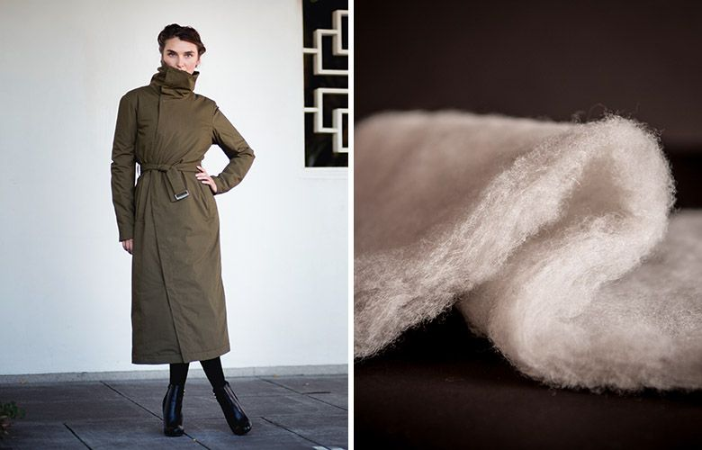 Nau women's Empire Trench coat is lined with coconut fiber. (Photo source:Nau and  Take Part )