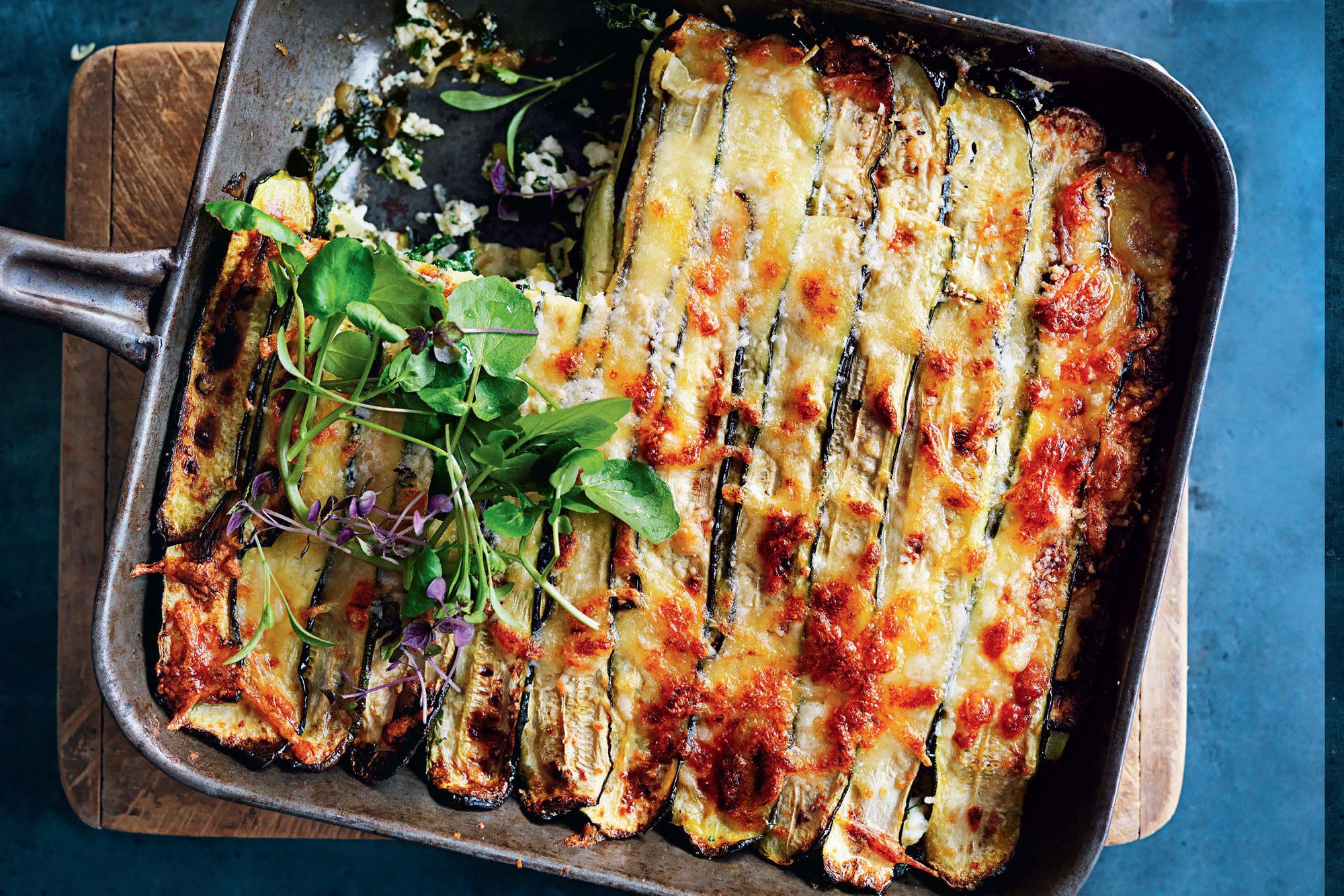 Photo Credit . Just as good as (if not better than) the real deal, this vegan lasagna highlights the nutritious and delicious zucchini. Light enough for a summer night, but still hearty enough for the colder seasons, this lasagna will become your new favorite recipe.
