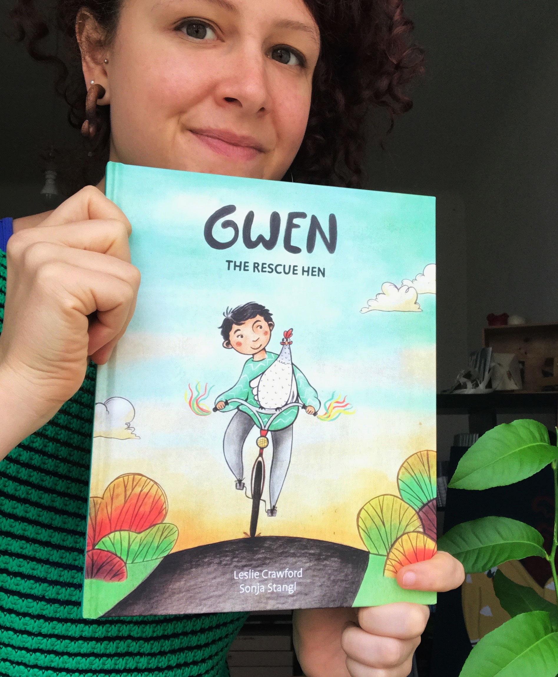 Sonja Stangl, who brought the adventuresome chicken in  Gwen the Rescue Hen  to life, is a Vienna-based children's book illustrator with a soft-spot for farm animals.