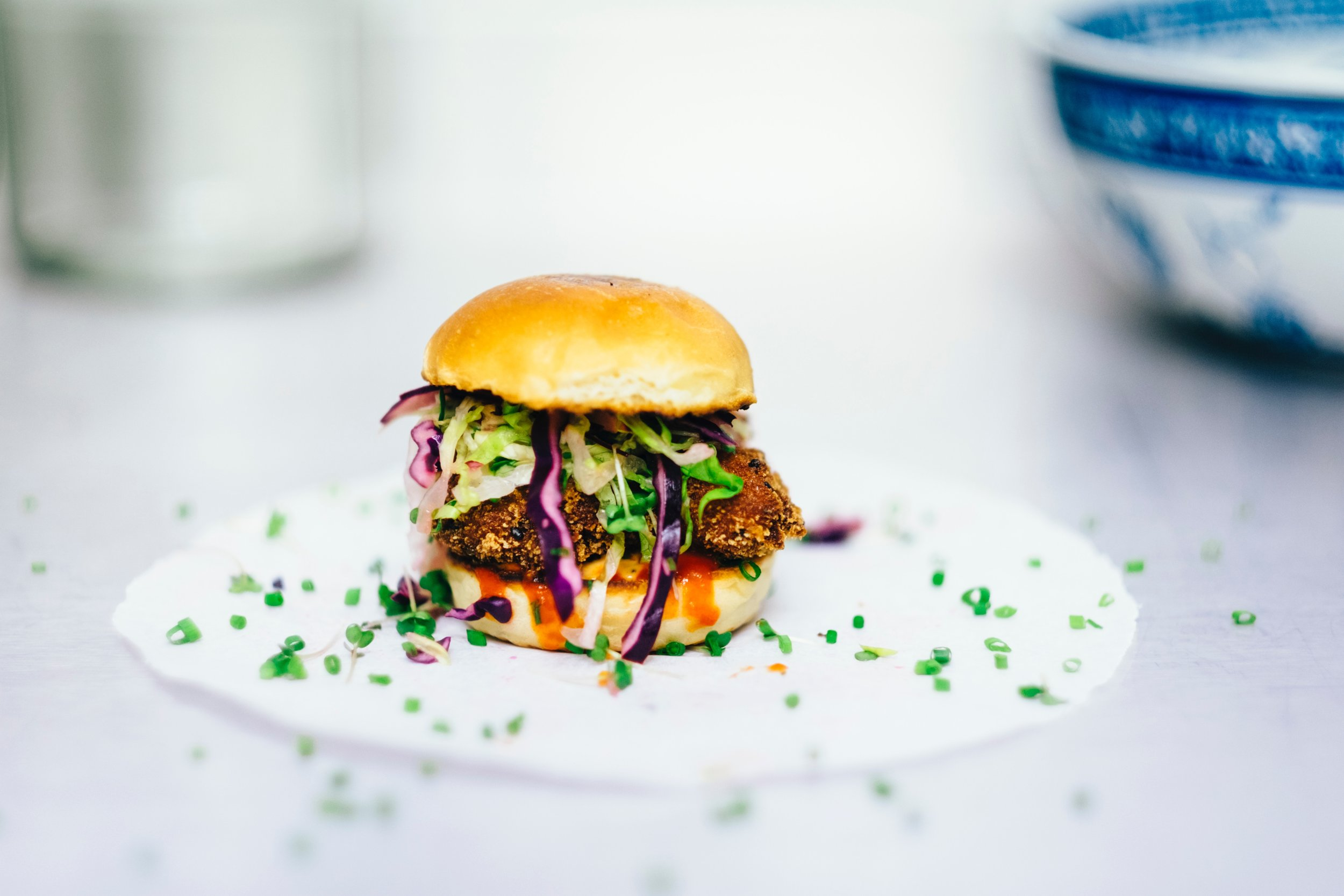 There are more options than ever for people hoping to eat more sustainably. While we await clean meat, the Culinary Institute of America recommends meat reduction strategies, such as  blending mushrooms  with ground beef for burgers. Photo credit: Unsplash.