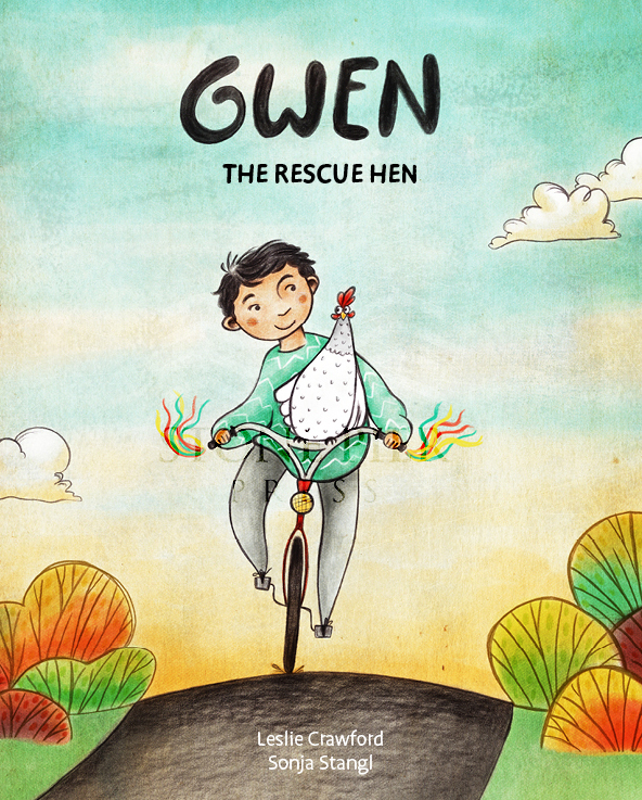 Leslie Crawford's love for chickens led her to write,  Gwen the Rescue Hen , on  sale now .