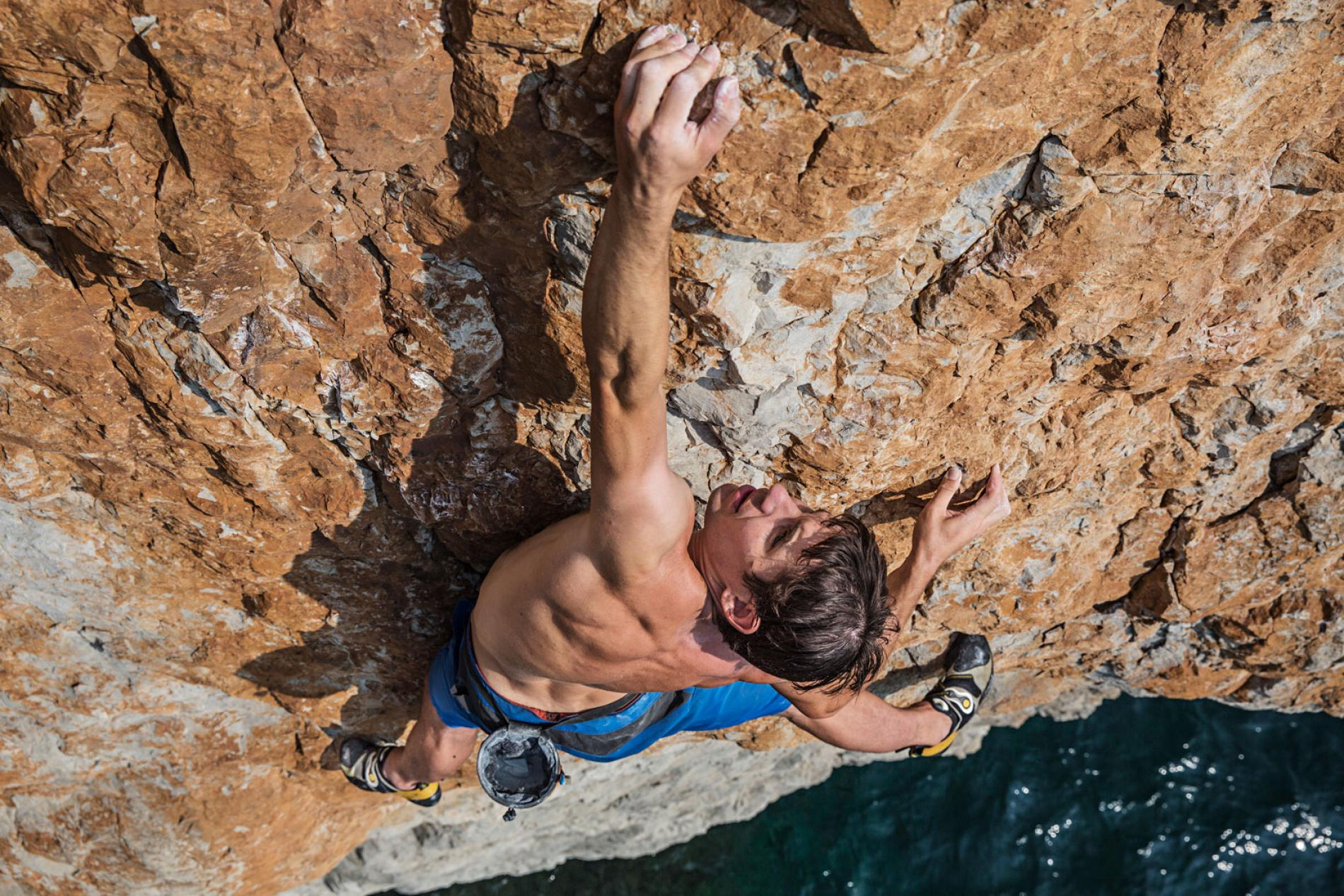 Alex Honnold is the world's best rock climber and does it without eating meat. Credit: Jimmy Chin