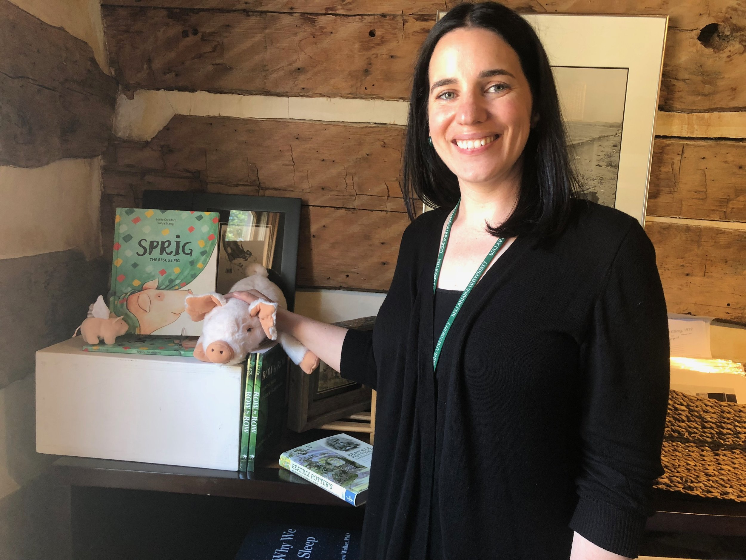 Sprig in the house! With Mary Aguilar at the  Agrarian Culture Center and Bookstore  at the Wendell Berry Center, in New Castle, Kentucky.