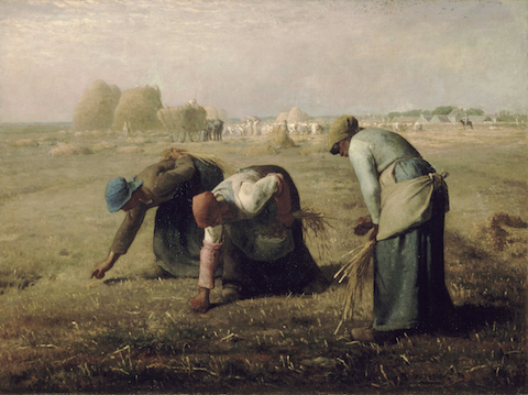 """The Gleaners,"" an oil painting by French artist Jean-Francois Millet, 1857."