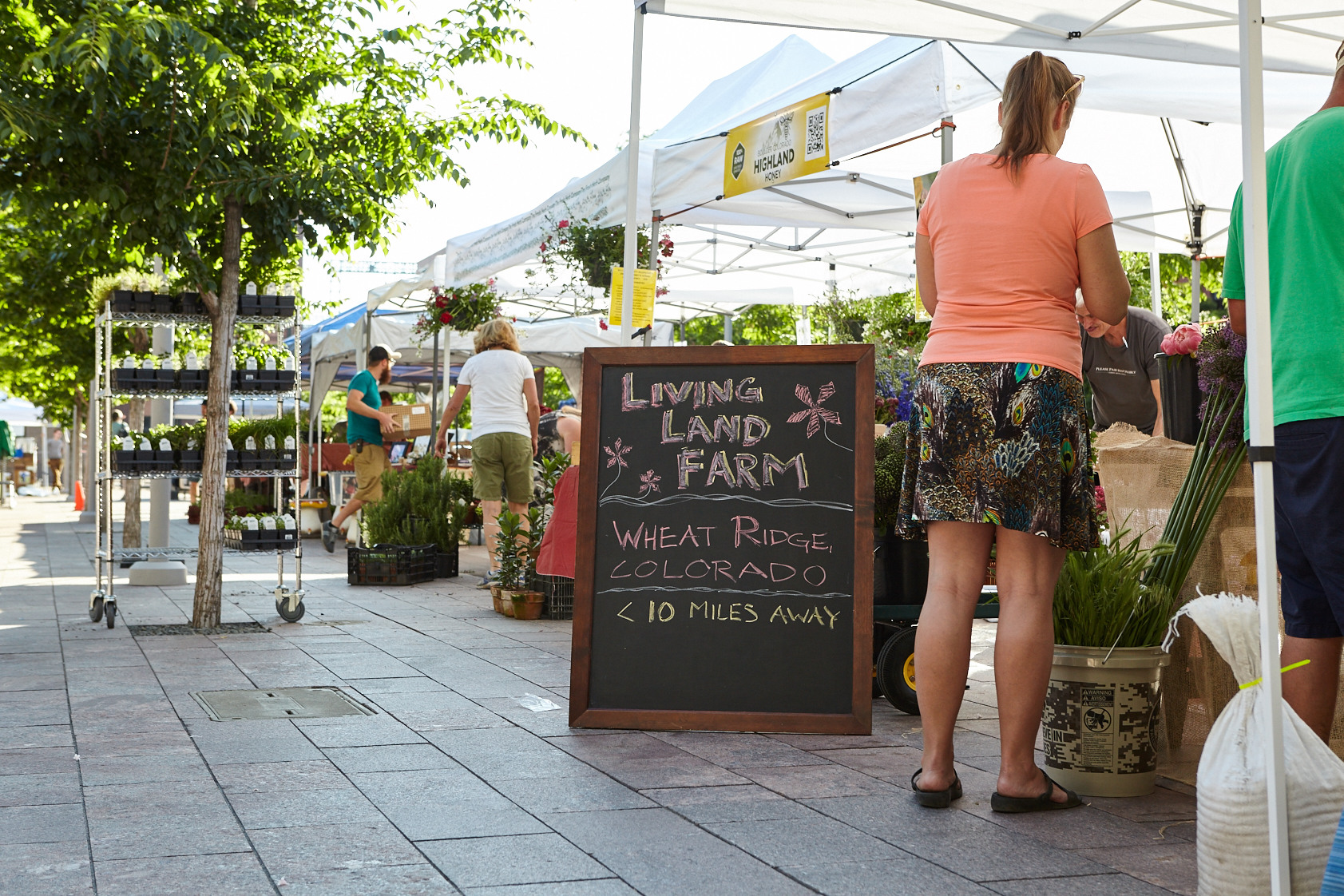 The easiest way to eat local and organic food is simply to  ask . Talk with the growers at your local market about the practices they use. Read up on what a label really stands for.  Photo Source .