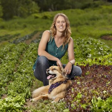 Acadia Tucker knows the importance of soil health. Image source: Michael Winters photography