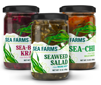 The three main benefits of eating kelp are highlighted in Atlantic Sea Farms' hashtags—#kelptheearth, #kelpthecoast, and #kelpyourself (photo from  Atlantic Sea Farms )