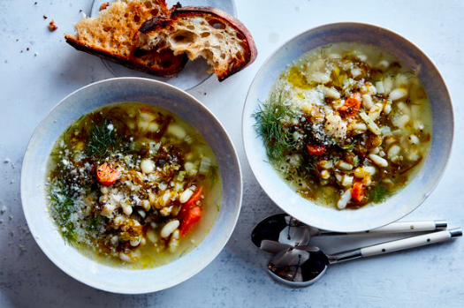 Melissa Clark's  Creamy White Bean and Seaweed Stew  was recently featured in the New York Times. (photo from  NYT Cooking )