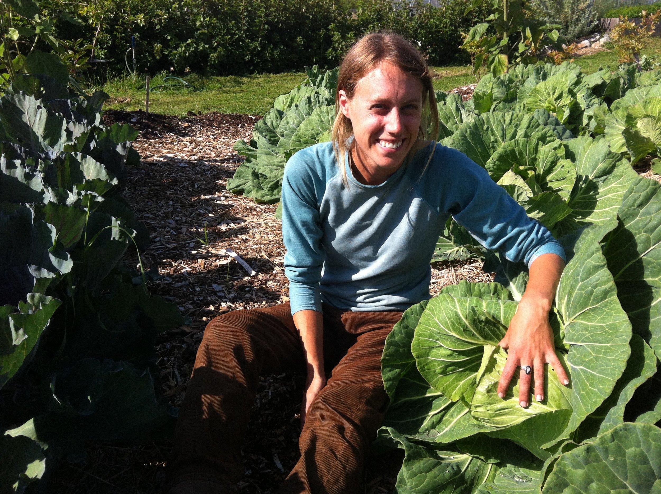Acadia doing some regenerative gardening!
