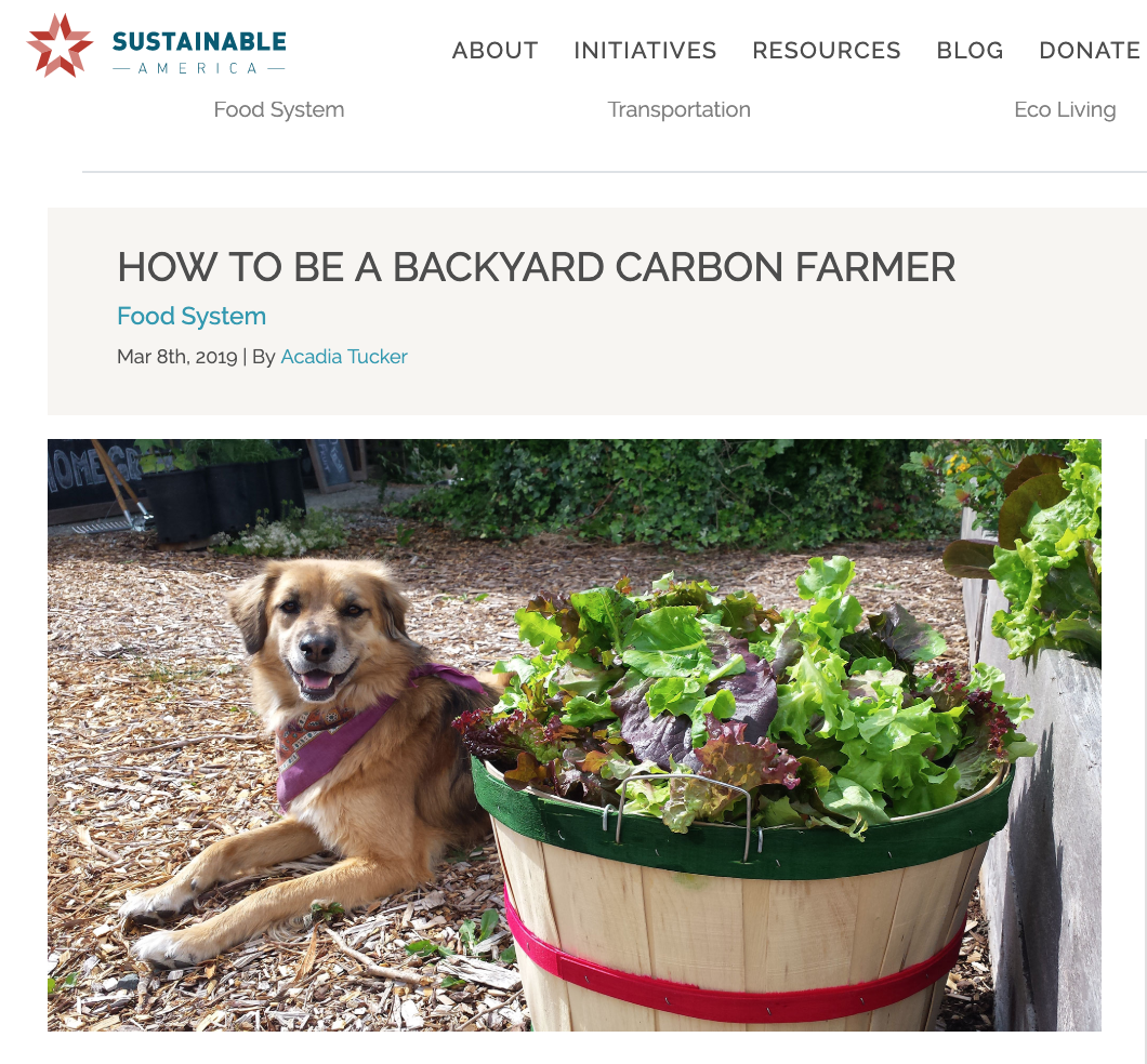How to be a backyard carbon farmer ,  Sustainable America