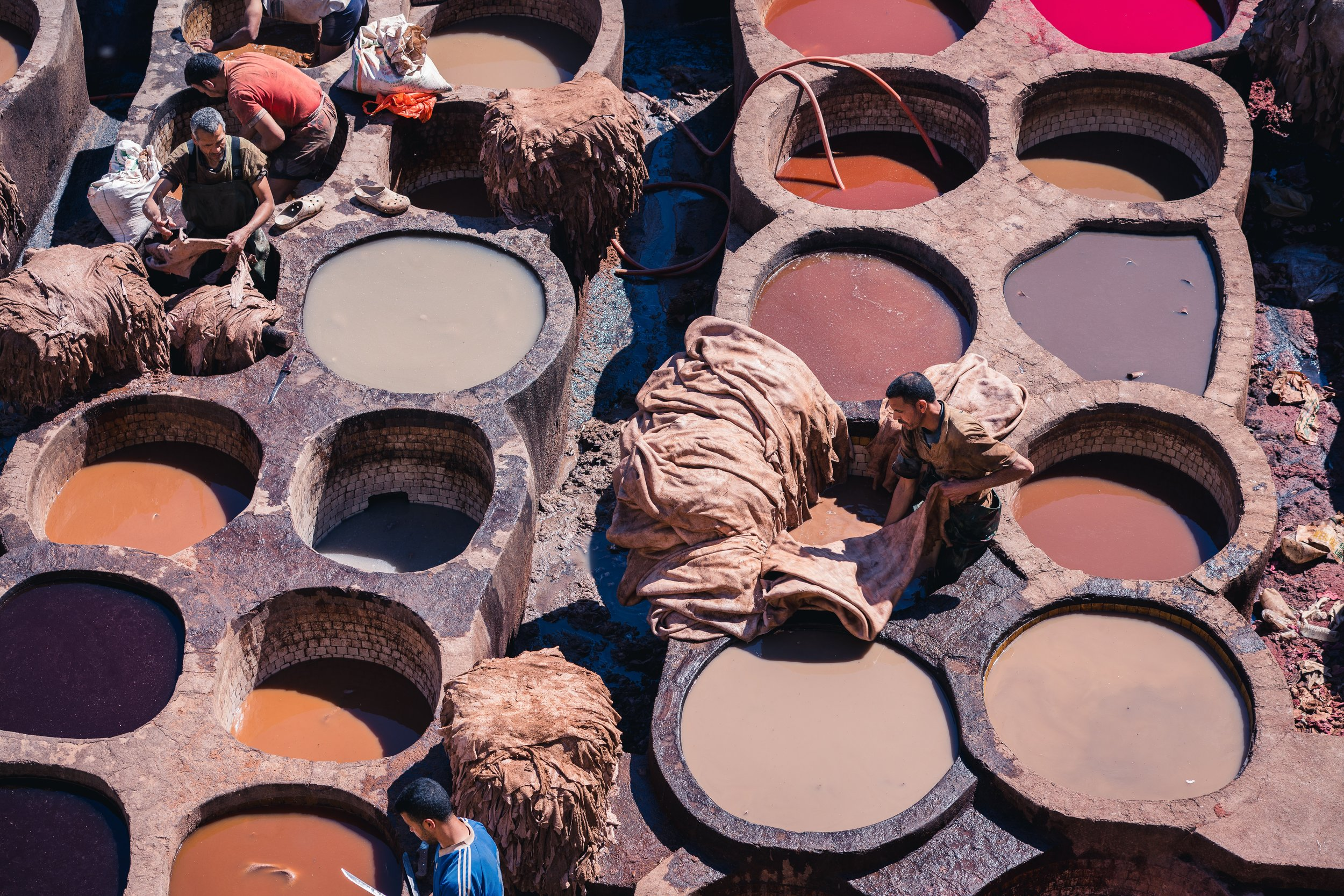 Tanneries use massive amounts of chemicals and water to convert hides into leather, which creates a host of health problems for workers and nearby residents and pollutes waterways.