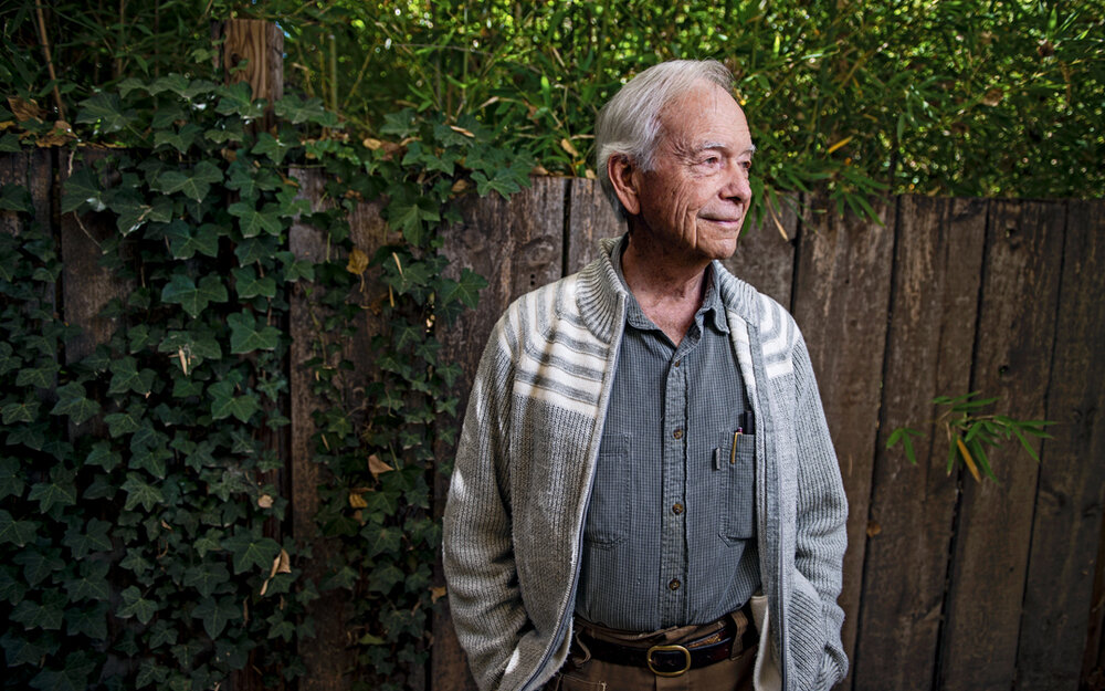 """Allan Savory at his home in Albuquerque. """"Holistic management does not permit replication,"""" he says.  Photo  by Roberto E. Rosales"""