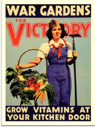 """Posters encouraged citizens to do their part with slogans like """"Our food is fighting"""" and """"Food will win the war."""" People who had never gardened before were energized by the prospect of helping the country, and many Americans gave it a try."""