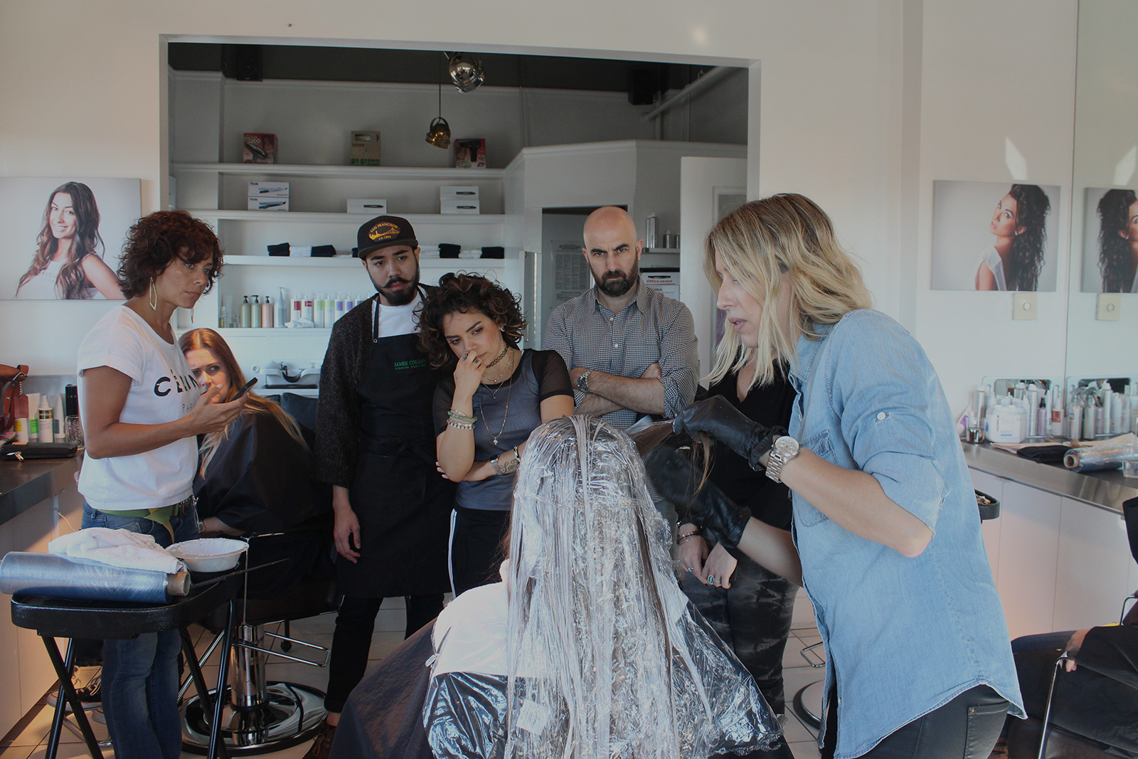 - Hair painting class with Tabitha Baker