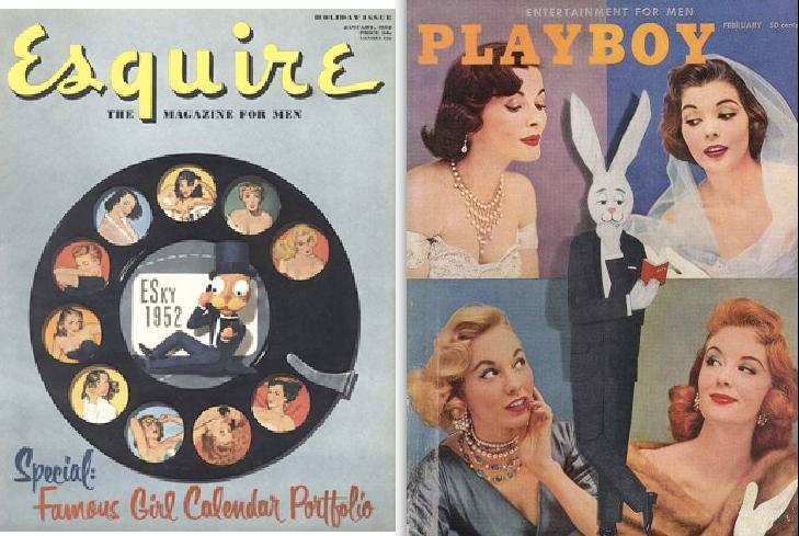 Esquire 1952, Playboy 1956
