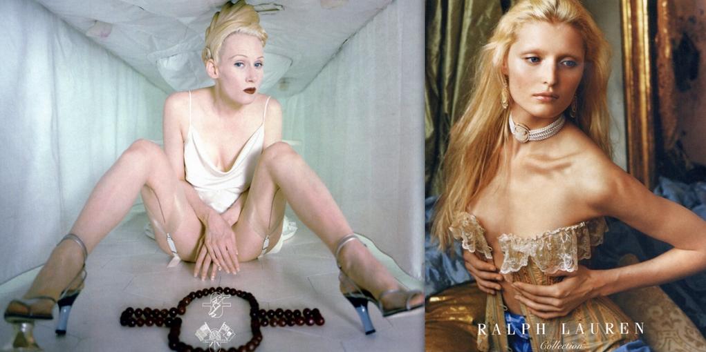 High-fashion advertisements: 1995, 2004