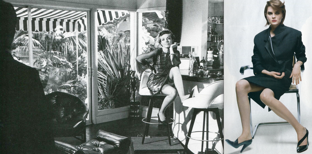 Mrs. Robinson's come-on in  The Graduate , 1967; 2004 Fashion ad