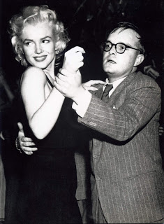 Marilyn and Truman Capote dancing, April 1955—the same month of this conversation.