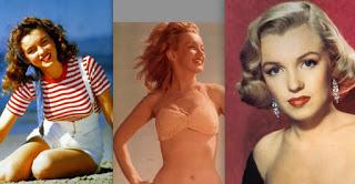 Marilyn's hair: 1946, 1947, 1950