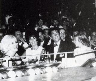 Marilyn with Elizabeth Taylor and Dean Martin, Las Vegas (June 1961)