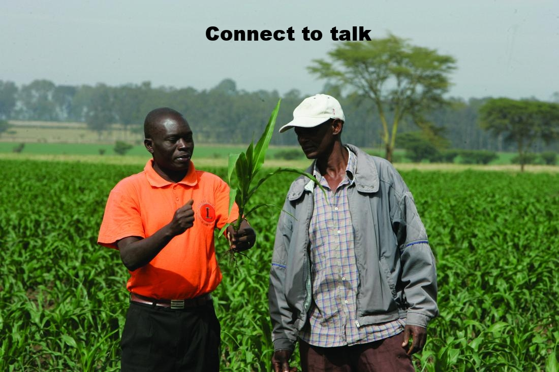 Communication with fellow farmers helps spread knowledge and information among people. Connect to talk is a feature that enables communication with fellow farmers, vendors and suppliers.