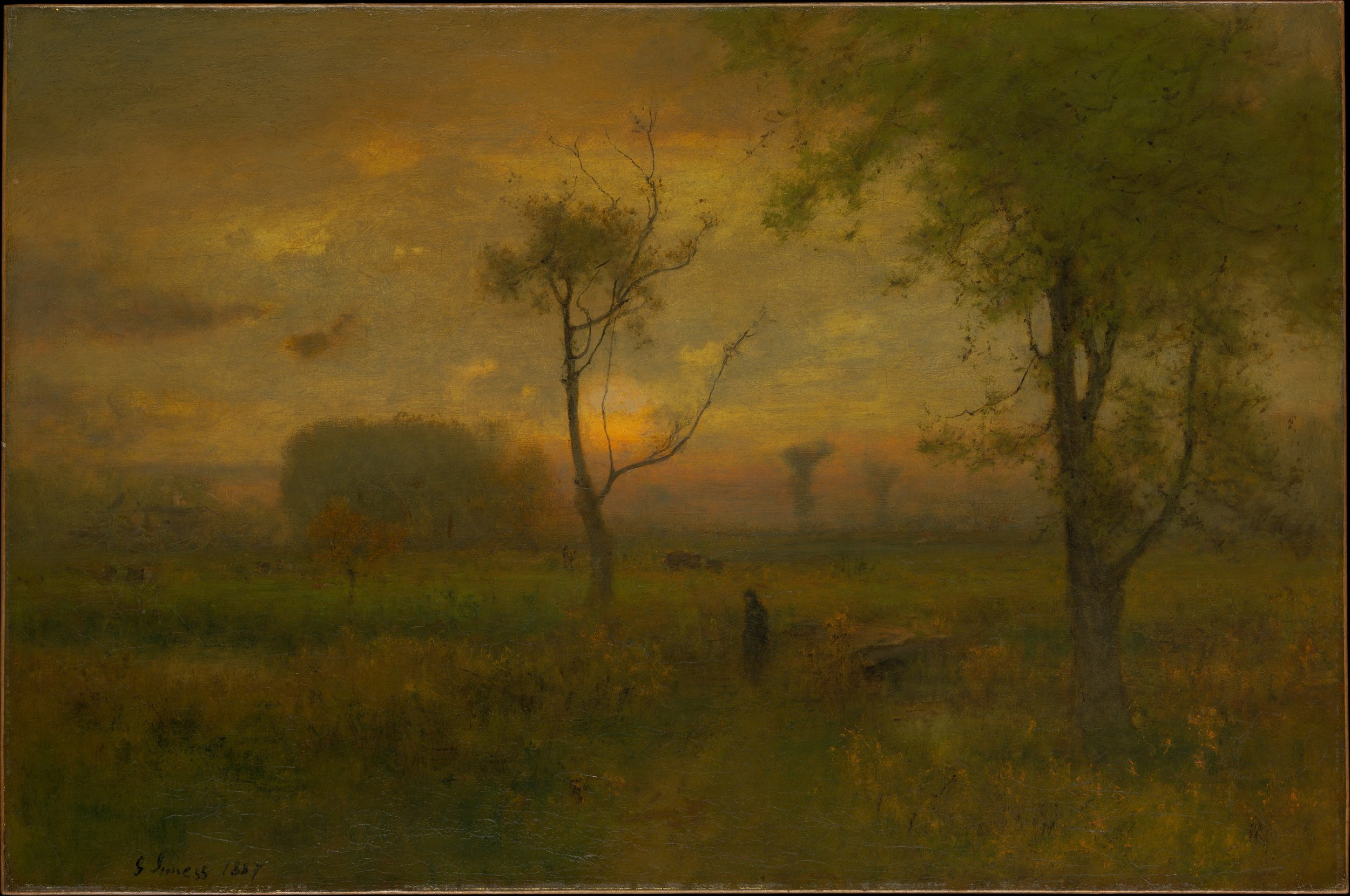 """Sunrise,"" by George Inness, 1887."