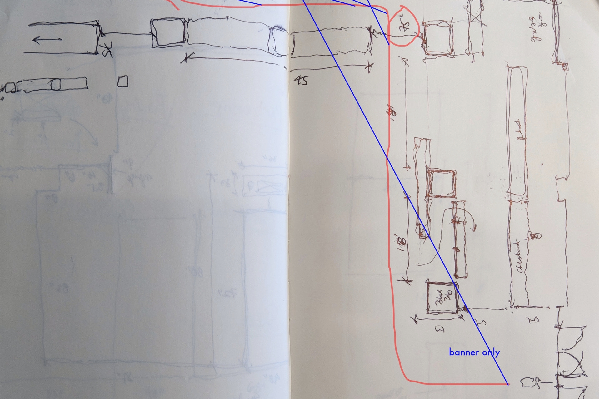 03 Measuring and Sketching   Sketched spatial relationships and measured key lines of sight on site