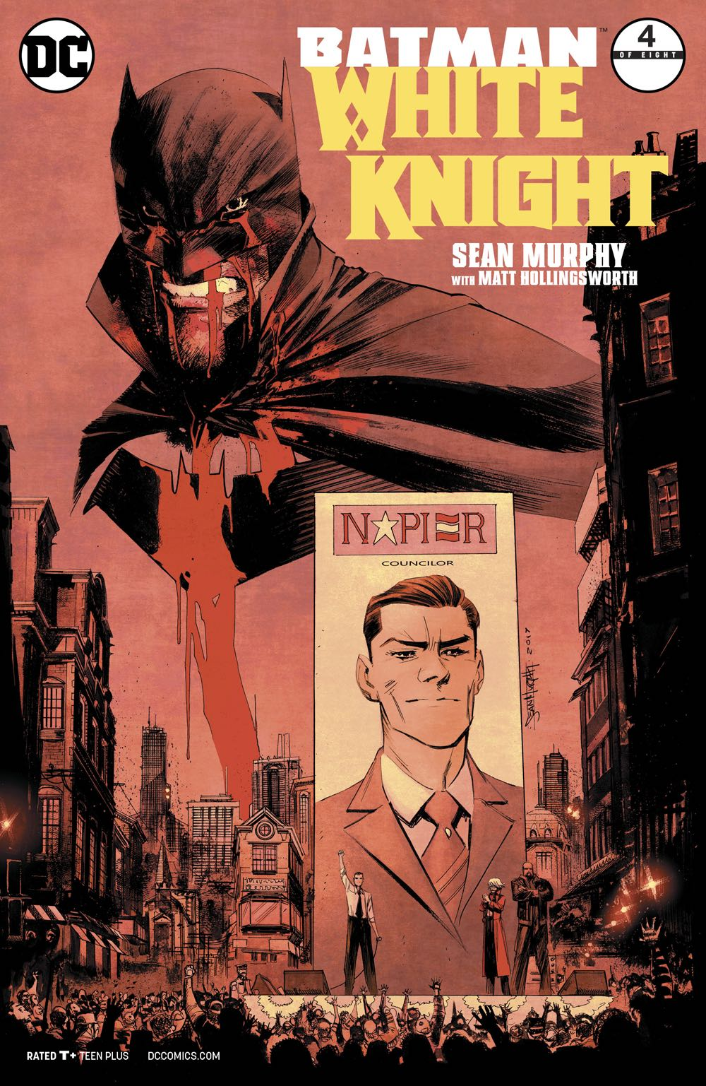 Episode 17 Cover of the Week! - (DC) Batman White Knight #4Cover by Sean MurphyWritten by Sean MurphyIllustrated by Sean MurphyDid the Content Match the Drapes? - YES!