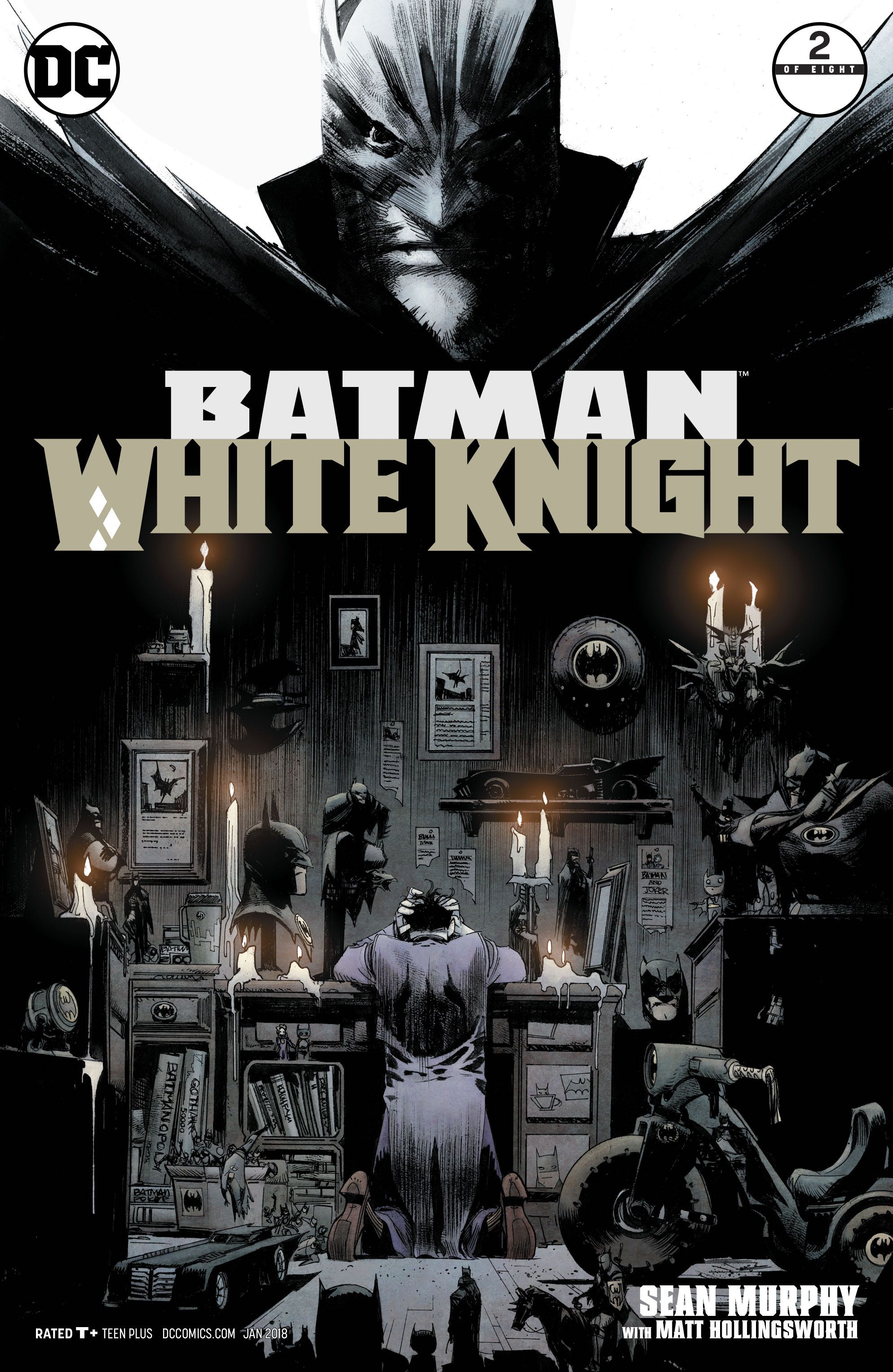 Episode 9 Cover of the Week! - (DC) Batman White Knight #2Cover by Sean MurphyWritten by Sean MurphyIllustrated by Sean MurphyDid the Content Match the Drapes? - YES!