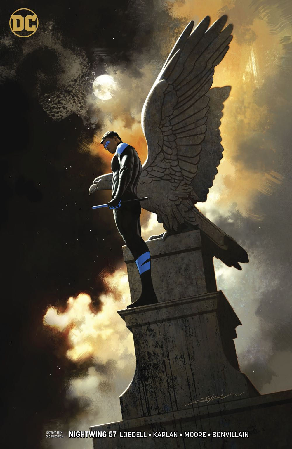 Episode 39 Variant of the Week! - (DC) Nightwing #57 (Dekal Variant)Cover by Jeff DekalWritten by Scott LobdellIllustrated by Travis MooreDid the Content Match the Drapes? - UNR